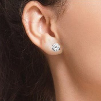 Claim free Elegance Solitaire earrings