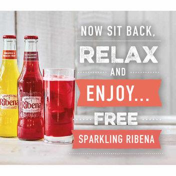 Enjoy a free Sparkling Ribena