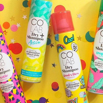 Claim 2 free cans of COLAB Dry Shampoo