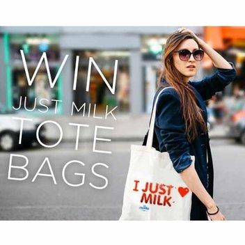 Claim a free JUST MILK tote bag