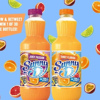 100 Free Bottles of Sunny D up for grabs