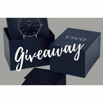 Men's leather watch giveaway