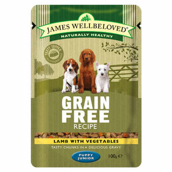Pick up a free James Wellbeloved puppy food sample