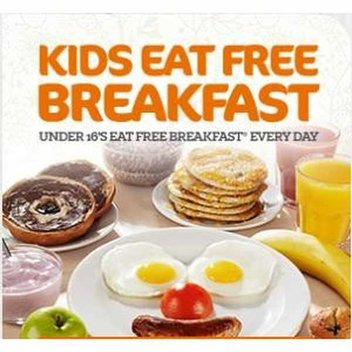 Kids eat free breakfast at Beefeater
