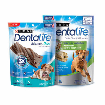 Free samples of Purina Dog Dental Chews
