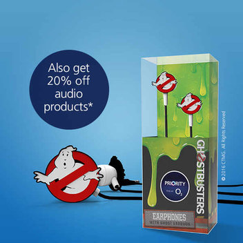 Free GHOSTBUSTERS earphones from O2 Priority