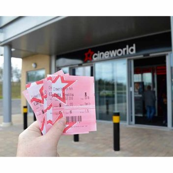 Claim free Cineworld Cinema tickets