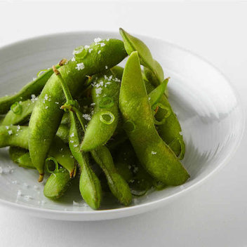 Pick up a free portion of Edamame beans