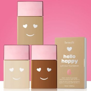Grab a free Benefit Hello Happy Foundation
