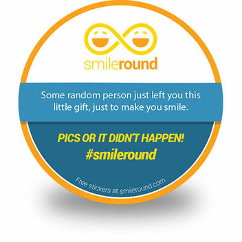 Free Smile Round stickers