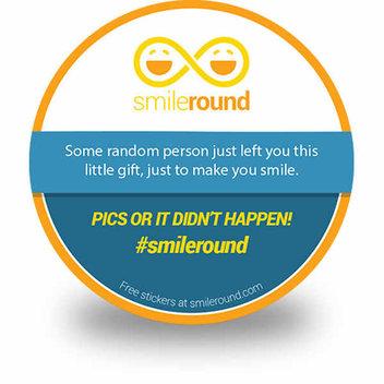 Free Smile Round stickers