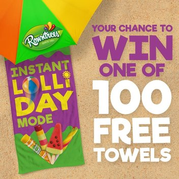 100 Rowntree's beach towels up for grabs
