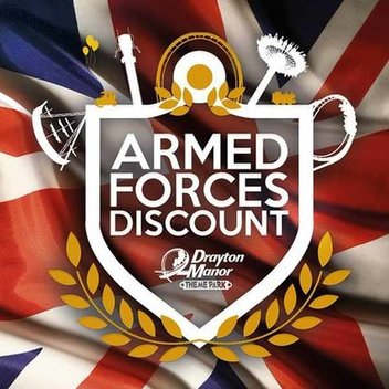 Free entry for Armed Forces at Drayton Manor Theme Park