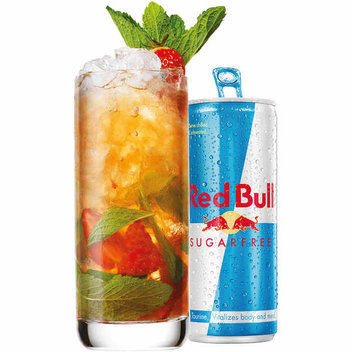 Complimentary Red Bull cocktails