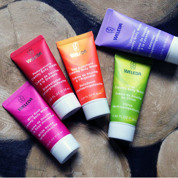 Receive a rainbow of travel-size body washes from Weleda