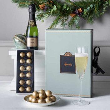 Win a Harrods Champagne & Truffles hamper