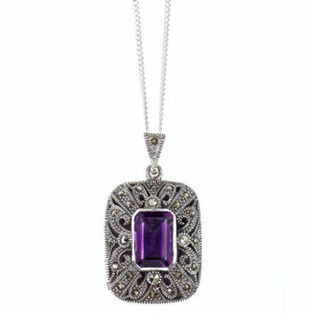 Get the Lily Blanche Amethyst Locket for free