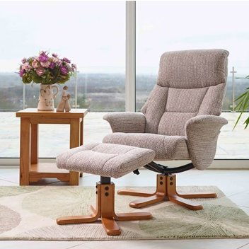 Win a Montreal Swivel Recliner Chair & Stool at Furniture World