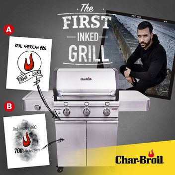 Claim a limited edition Char-Broil BBQ & a tattoo session with Jay Hutton
