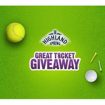 Free Tennis and Golf tickets from Highland Spring