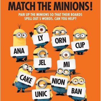 Free Minion Activity Sheets