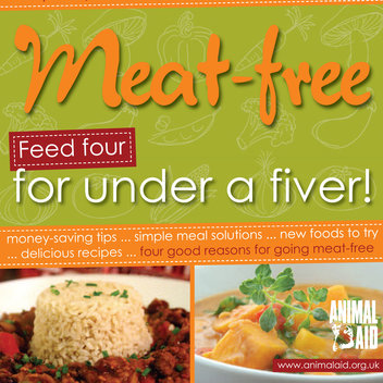 Secure a free copy of Meat-Free! Feed four for under a fiver