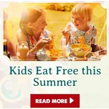 Kids eat free at Bella Italia this summer