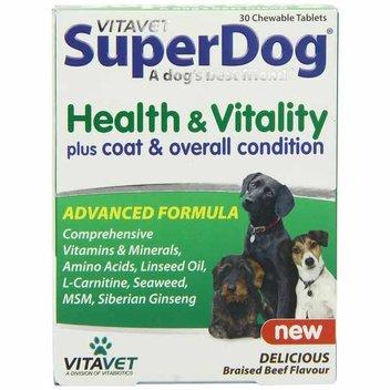 Free pack of SuperDog Vitamins