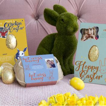 Enjoy a free Vanilla Reindeer Personalised Easter Egg
