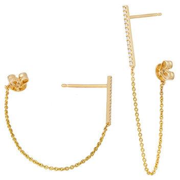 Win earrings from a Hatton Garden jeweller