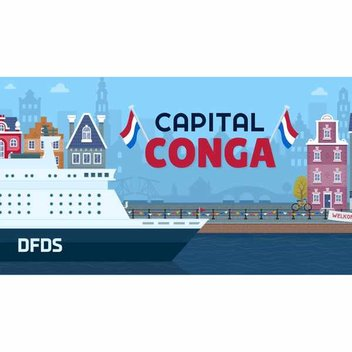 Play to win prizes from DFDS's Capital Conga game