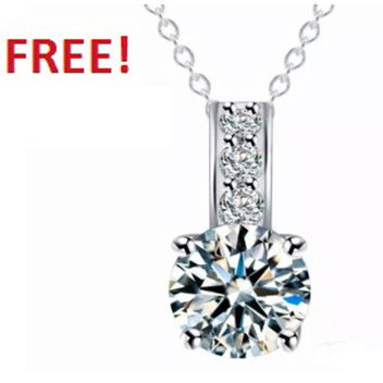 Celebrate Mother's Day with a free Elegance Solitaire Pendant