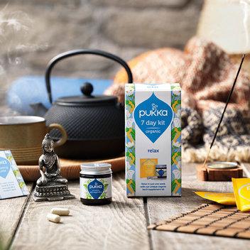 Take home a free Pukka Tea kit