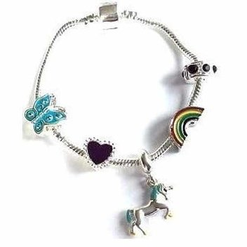 Win a children's 'Magical Unicorn' silver plated charm bracelet
