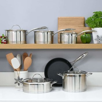 Win a 6 Piece Professional Steel Cookware Set worth £460