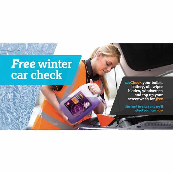 Free Winter Health Check for automobiles