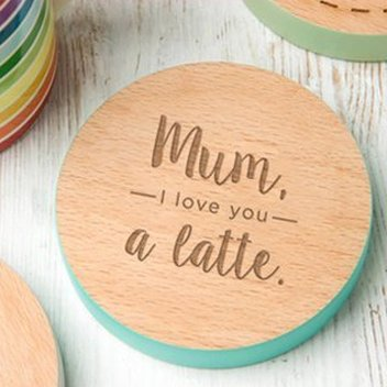 Claim a free Mother's Day coaster