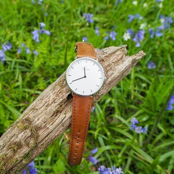 Stay on time with a free Nordgreen Native Scandinavian Silver Unisex Analogue Watch