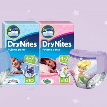 Receive free Huggies Drynites samples
