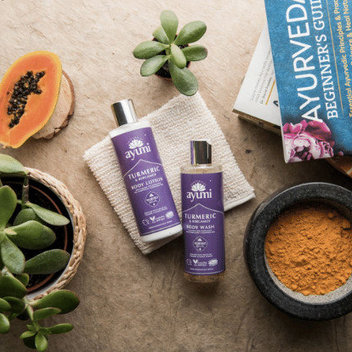 Get your hands on the full Turmeric & Bergamot range from Ayumi