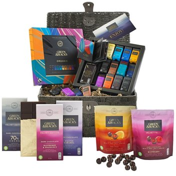 Redeem a free Green & Blacks Valentine Chocolate basket