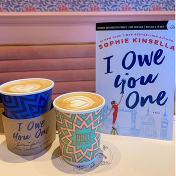 Redeem a free copy of I Owe You One by Sophie Kinsella