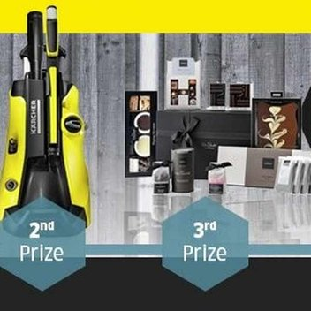 Win a pressure washer or a Hotel Chocolat hamper