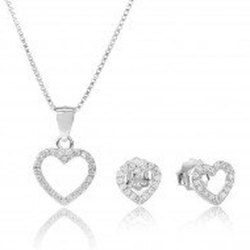 Spread the love with a free Sterling Silver Heart Jewellery set