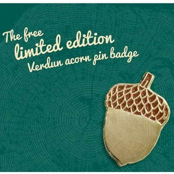 Free Acorn pin badge from Woodland Trust
