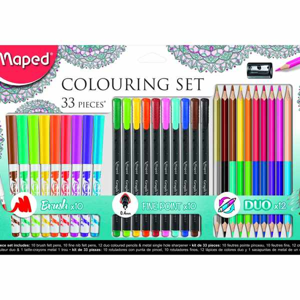 Free Maped Helix colouring sets