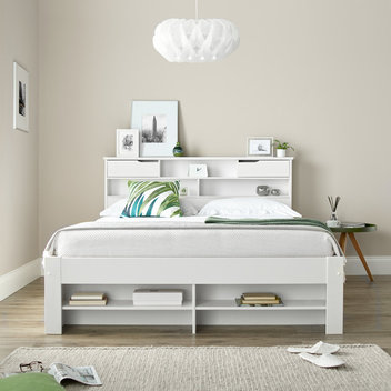 Win a Fabio White Wooden Bookcase Bed