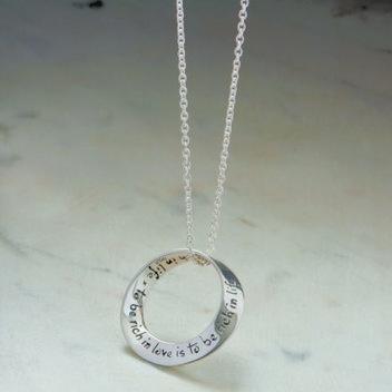 Win a Rich in Love Silver Pendant