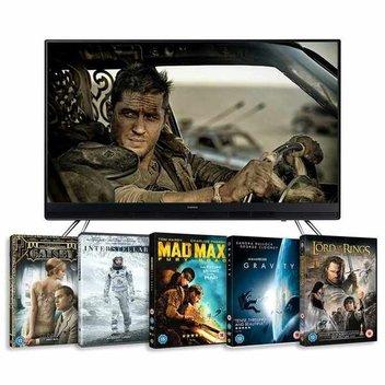 Win a 49in TV plus an essential Warner Bros DVD bundle