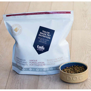 Free samples of Tails' Tailor-made dog food